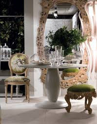 dining room table mirror top: round top dining table and oversized oval mirror contemporary dining room