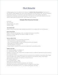 Mla Resume Template Best of Format Resume Create Resume Template Resume Format Sample Format