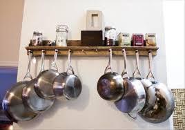 bookshelf wall mount pot rack