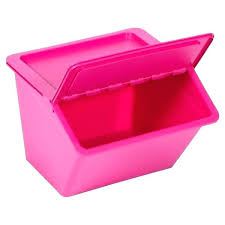 pink storage bins containers container with flap lid bin food plastic drawers shelves