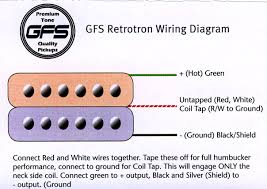 wiring a gfs humbucker need detailed instructions harmony central i think it doesn t leave much room for intepretation