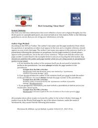 Mla Quote Cheat Sheet