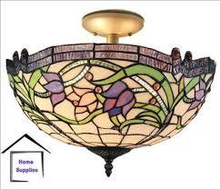 tiffany flush ceiling lights uk. tiffany style glass semi flush ceiling light · tiffany_style_ceiling_lights_08 lights uk