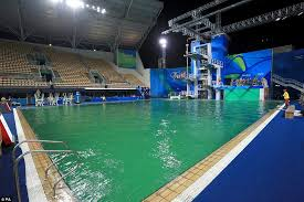 olympic swimming pools. Delighful Swimming In August The Diving Pool At Summer Games Turned Green Because 80  Litres Of For Olympic Swimming Pools O