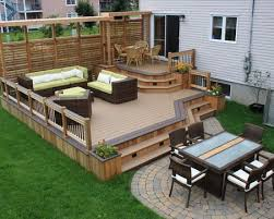 wooden patio design ideas in the