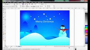Creative Christmas Cards Corel Draw Tutorial Creative Christmas Card Design Using Corel