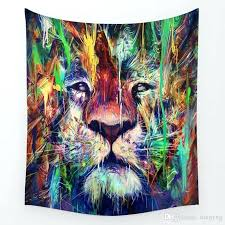 celtic tapestries wall hangings lion fantasy creatures printed mandala tapestry decorative wall hanging tapestries hanging towel