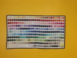 Kona Colour Chart Super Simply Quilted And Then Hung In My