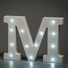 White Led Letter Lights White Led Wooden Letter M Lights Sign 6 Inch Wooden