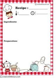 recipe cards for kids. Simple Cards Free Printable Recipe Card For Recipe Cards Kids