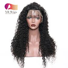 us 190 full lace wigs curly wigs human hair wigs 180 density pre plucked with baby hair for black woman flcl01 ybwigs