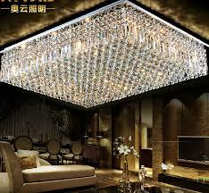 beautiful square flush mount crystal chandelier aliexpress hot ing flush mount l800w600h200mm