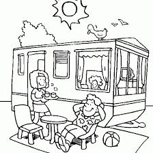 Disegni Da Colorare Bimbi In Vacanza Camper Disegni Da Colorare E