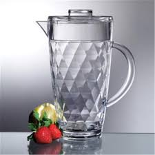 anchor hocking 64 ounce bistro clear glass pitcher with stopper com
