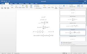 office 2016 for mac equations in word