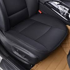 universal 53x50cm black pu leather front car seat cover chair cushion protector pad mat cod