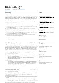 National Sales Manager Resume Samples And Templates Visualcv