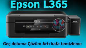 Epson L365 Geç doluma Çözüm Artı kafa temizleme - YouTube