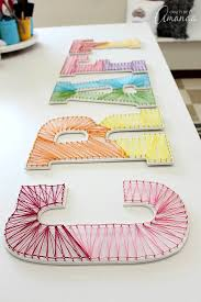colorful string art wall letters fun idea for a kids room too  on wall art letters for nursery with colorful string art wall letters fun idea for a kids room too