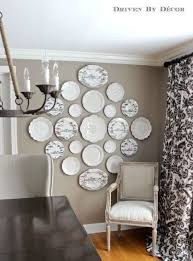 5 rustic glam dining rooms plate wall