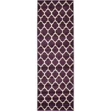 trellis philadelphia purple beige 2 0 x 6 0 runner rug