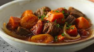 slow cooker colombian beef and sweet potato stew