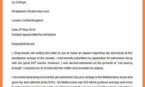 Letter Of Reconsideration For College Admission] Appeal Letter For ...