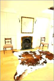 unique cowhide rug living room design ideas decorating faux layered