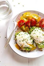simple poached egg and avocado toast