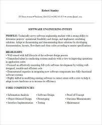 Modern Engineer Resume Programming Internship Resume Cover Letter Samples Cover