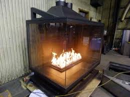 sided gas fireplace indoor outdoor warm up patios outdoor rooms acucraft commercial fireplace acucraft double