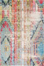 kaleidoscope contemporary distressed rug e228b multi color image to close