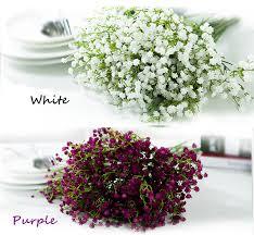 mlticolor pu baby s breath plastic gypsophila plastic flowers white purple orange blue gypsophila wedding decorations rose