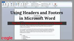 Ms Word Tip Using Headers And Footers In Your Resume Youtube