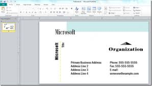 microsoft business card how to use microsoft business card template create a using publisher