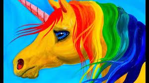 easy learn to paint rainbow unicorn acrylic tutorial beginners and kids you