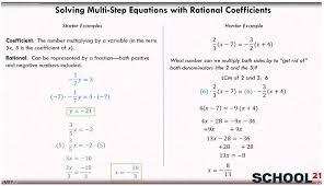 equations rational coefficients