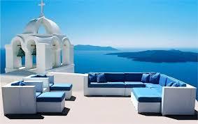 blue patio cushions blue patio furniture blue high back patio chair cushions