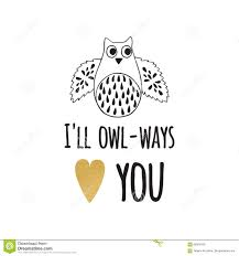 Valentines Day Greeting Card With Funny Quote Gold Heart And Owl
