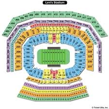 Levis Stadium Seating Chart Levi Stadium Seating Chart Taylor Swift