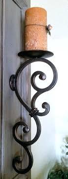 wrought iron sconces. Exellent Iron Wrought Iron Wall Sconces For Candles    Inside Wrought Iron Sconces
