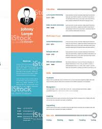 Cv Resume Template Stock Illustration Download Image Now Istock