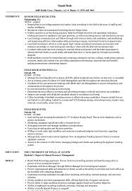 Field Recruiter Resume Samples Velvet Jobs