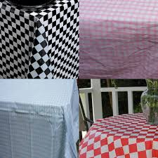 the black and white check plastic tablecovers plastic table rolls inside round red and white checd plastic tablecloths designs