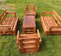 furniture ideas with pallets. Pallet Patio Furniture Set - 45 Easiest DIY Projects With Wood Pallets | 101 Ideas C