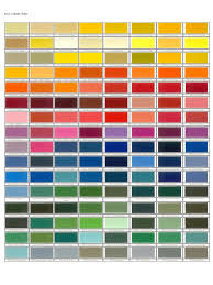 Ral Colour Chart Download Free Ral Color Chart Template 6 Free Templates In Pdf Word