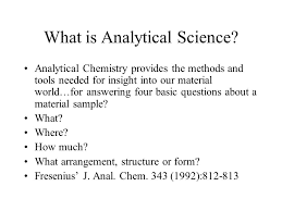 The Art And Science Of Chemical Analysis Ppt Video Online Download