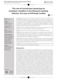 Gcb Personal Loan Chart Pdf The Role Of Commission Based Pay On Employee Retention