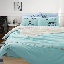 solid color and plaid bedding sets full queen king size cotton bed sheets duvet cover ons