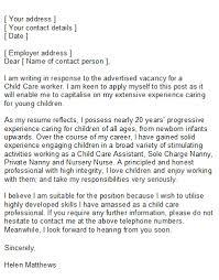 Cover Letter Childcare Chechucontreras Com